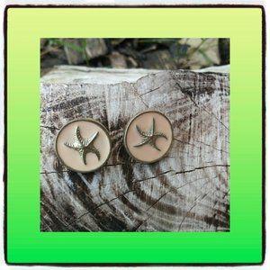 Round Circle Starfish Earrings Jewelry
